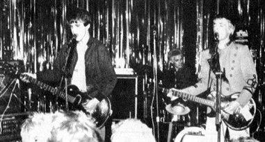 Live at the 'Lindisfarne', Southend 1979. Picture taken from the fanzine 'Strange Stories'.